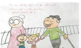Dibujos y mensajes de niños y niñas de primaria